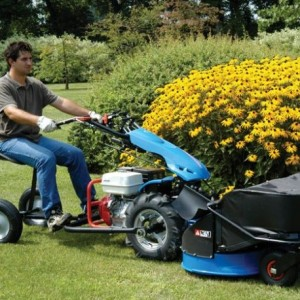 Using a BCS mower with a riding sulky
