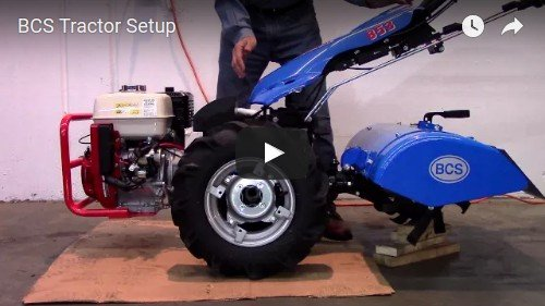How to set up a BCS two wheeled tractor